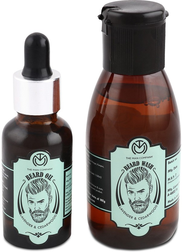 The Man Company Lavender & Cedarwood Beard Oil (30ml) & Wash Combo (100ml)