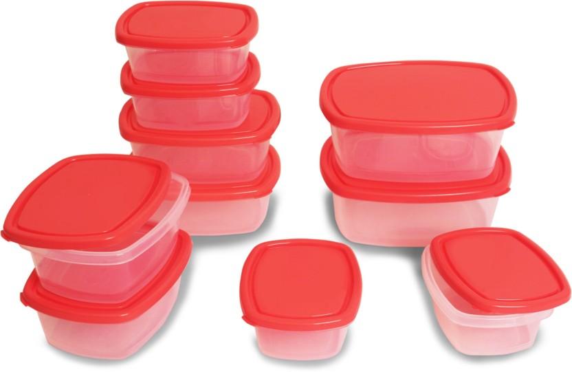 Flipkart SmartBuy 10 Piece Refrigerator Storage Containers