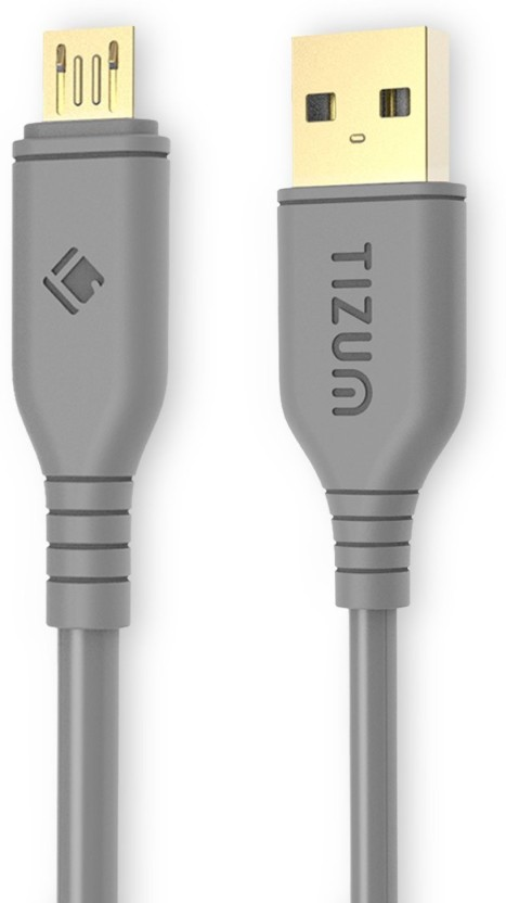 TIZUM Gold Plated (4 Feet/ 1.2 Meters) - Quick Charge 2.4 Amp, High Speed & Data Sync USB Cable