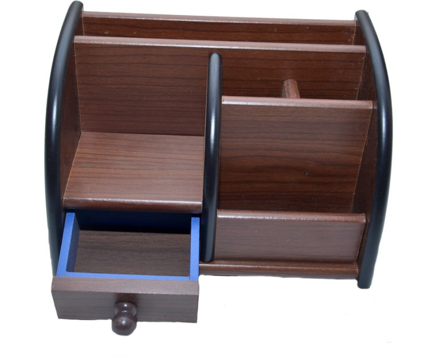 Familiz XL329 6 Compartments Wooden Pen Stand