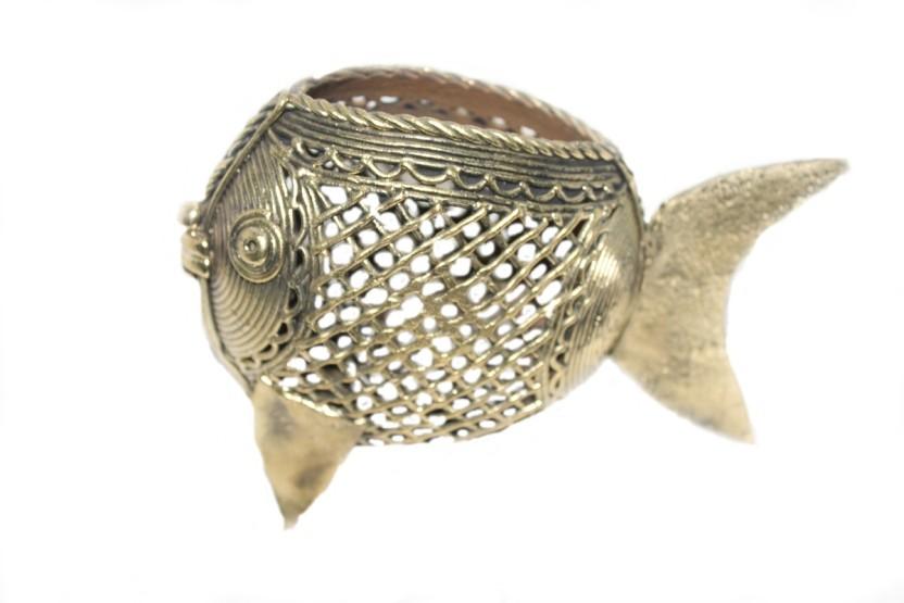 Sarvsiddhi 1 Compartments Brass Pen Holder