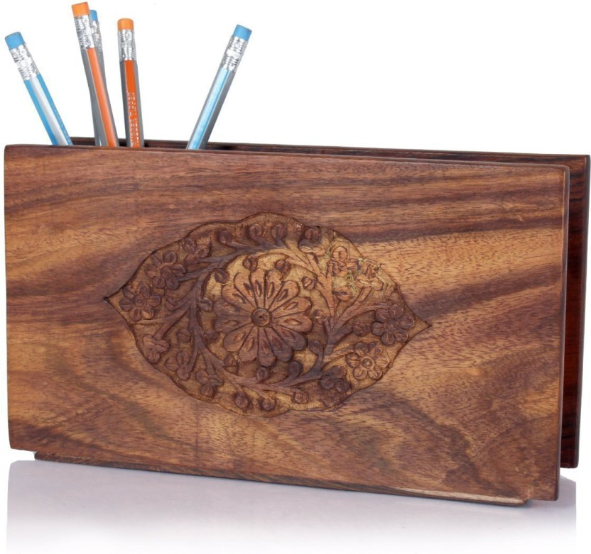 Fingers 2 Compartments wooden PenStand