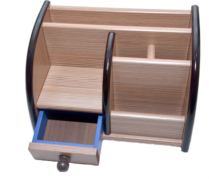 Familiz Xl1013 6 Compartments Wooden Pen Stand