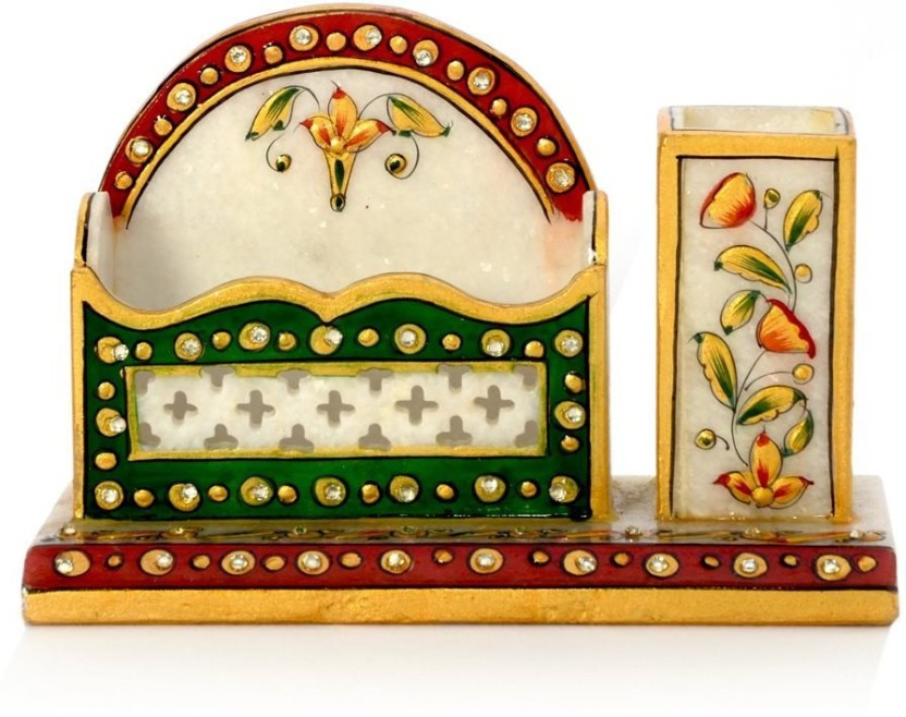 Little India HCF381 1 Compartments Marble Visiting Card Holder