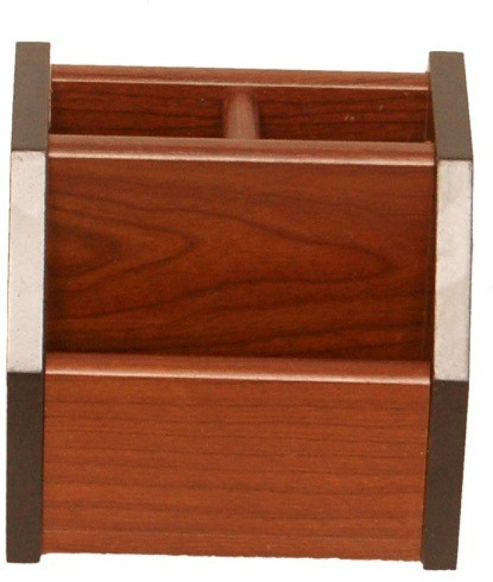 FABULO 3 Compartments WOODEN fabulo stationary holder