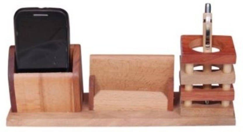 Onlineshoppee CAC 3 Compartments Wood AFR549