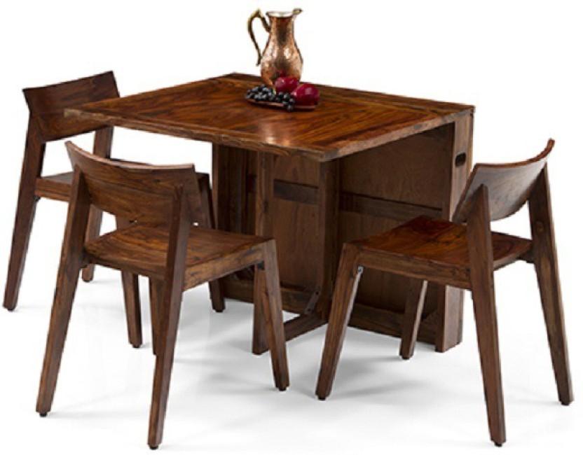 Urban Ladder Danton 3 - to - 6 Extendable - Gordon Solid Wood 2 Seater Dining Set