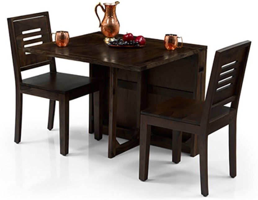 Urban Ladder Danton 3 - to - 6 Extendable - Capra 2 Seater Solid Wood 2 Seater Dining Set