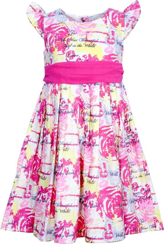 Bella Moda Girls Gathered Pink Dress