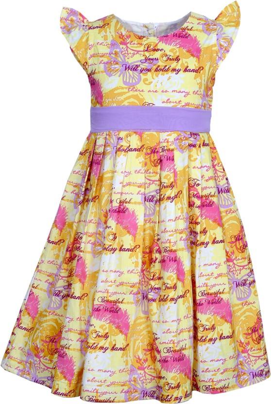 Bella Moda Girls Gathered Yellow Dress
