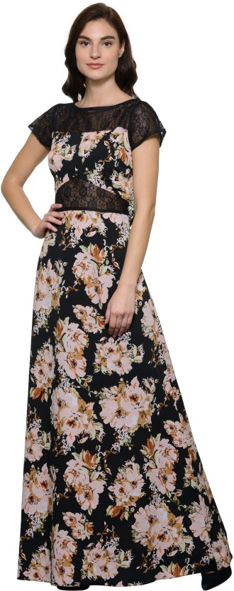 TAARUUSH Women A-line Black, White Dress