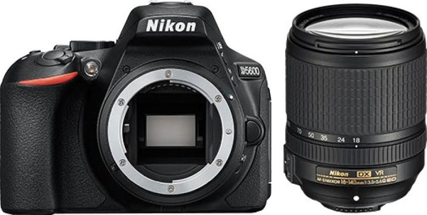 Nikon D5600 DSLR Camera Body with Single Lens: AF-S DX Nikkor 18 - 140 MM F/3.5-5.6G ED VR (16 GB SD Card + Camera Bag)