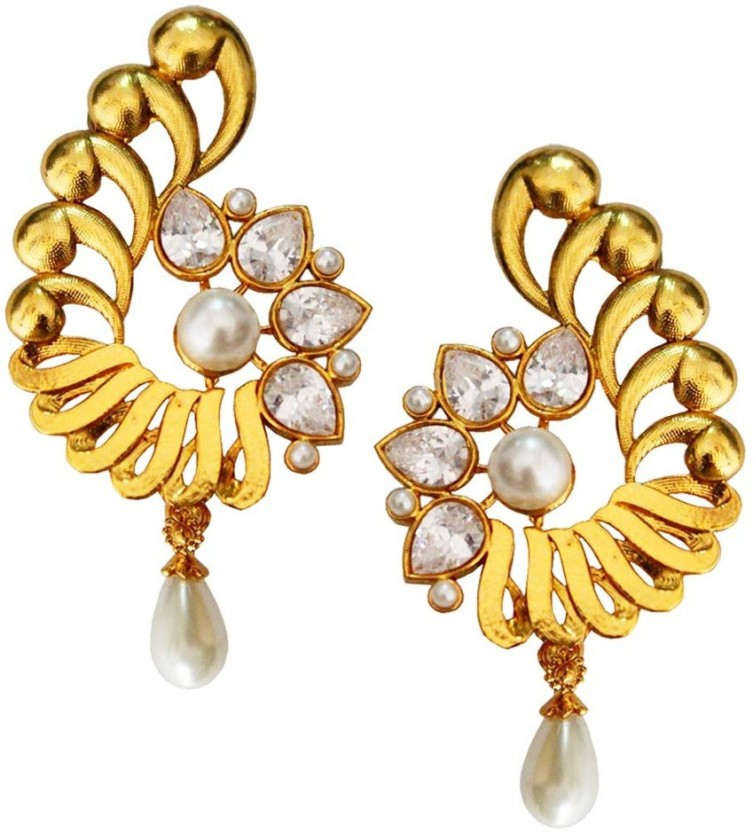 Being Women Unique Design Pearl Drop Fashion Alloy Drop Earring