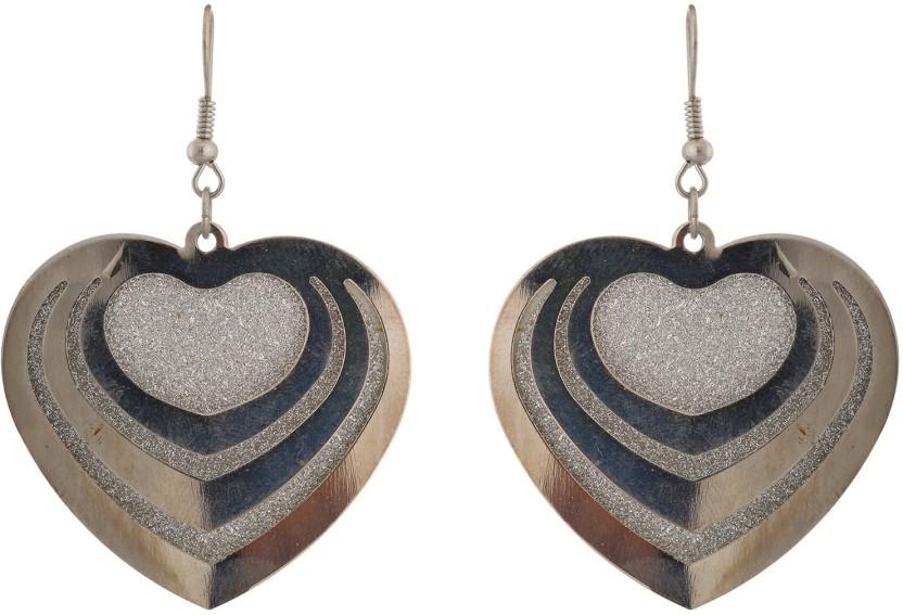 Subharpit Stunning Heart Shape Alloy Dangle Earring