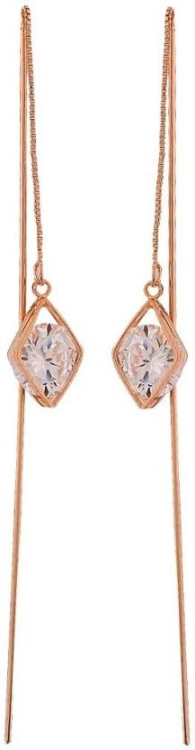 Maayra Smart Crystal Alloy Tassel Earring