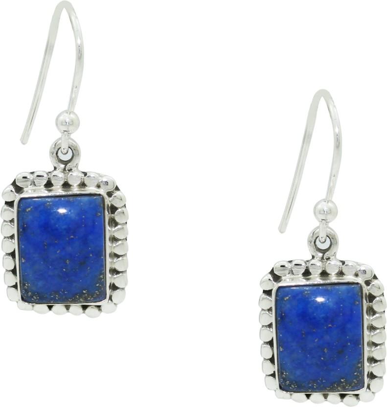 Frabjous Earring Lapis Lazuli Sterling Silver Dangle Earring
