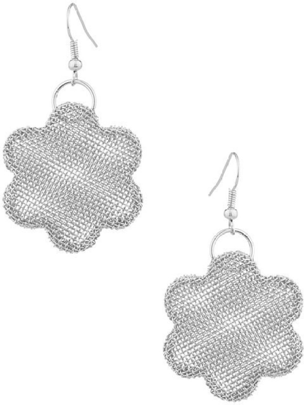 Gemshop Star-Shape Pair With Silver Tone Alloy Dangle Earring