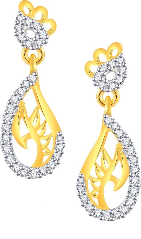 Vidhi Jewels Stunning Cubic Zirconia Alloy, Brass Drop Earring