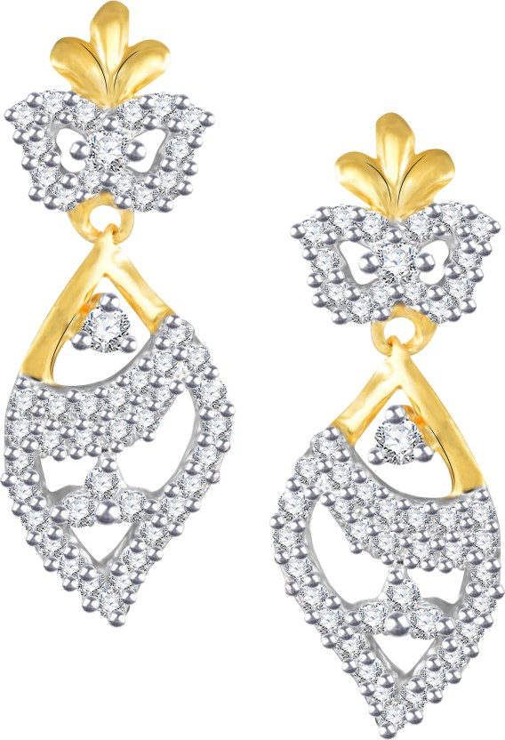 Vidhi Jewels Glittering Cubic Zirconia Alloy, Brass Drop Earring