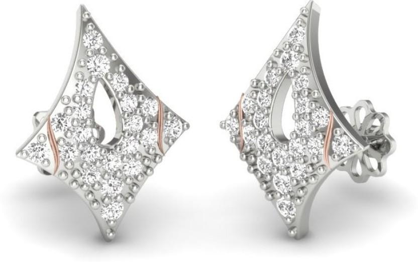 Zevera Exotic Swarovski Crystal, Swarovski Zirconia Silver, Sterling Silver Stud Earring