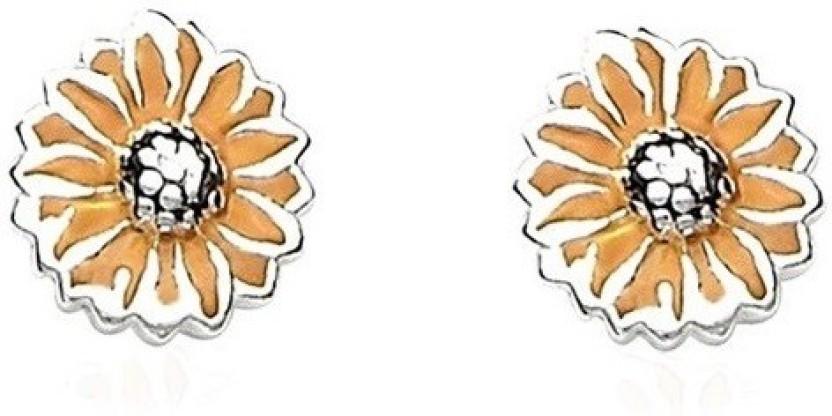 Manglam Flower Studs Silver Stud Earring