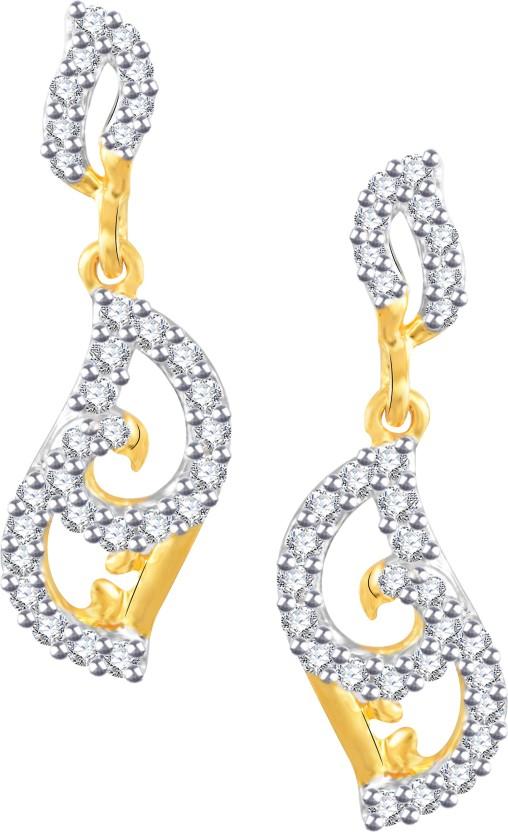 Vidhi Jewels Attractive Cubic Zirconia Alloy, Brass Drop Earring