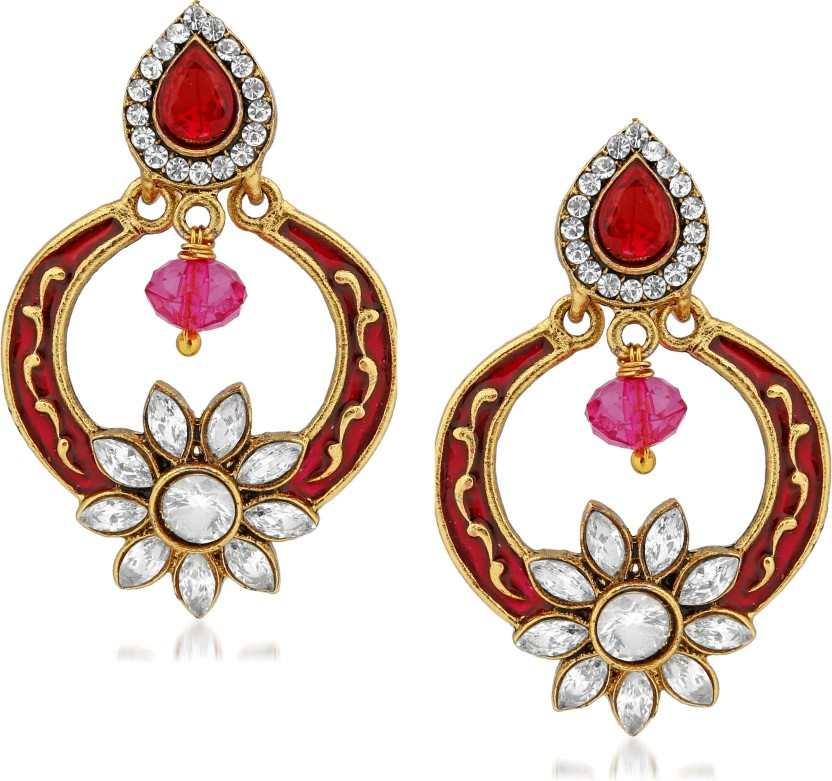 VK Jewels Vintage Question Mark Gold Plated Alloy Drop Alloy Drop Earring
