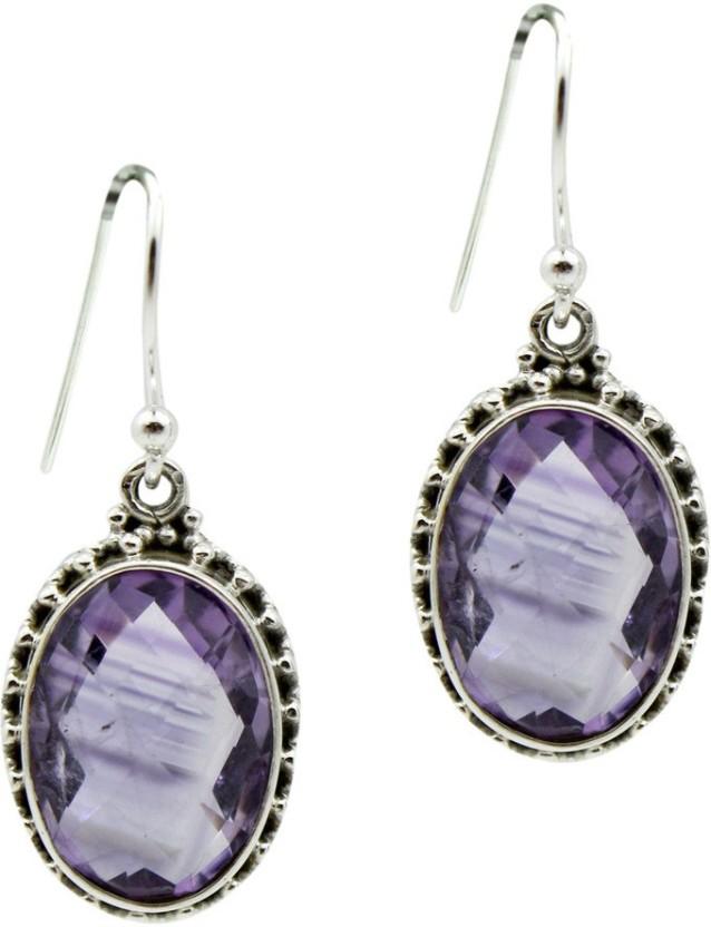 Frabjous Jewellery Zircon Sterling Silver Drop Earring