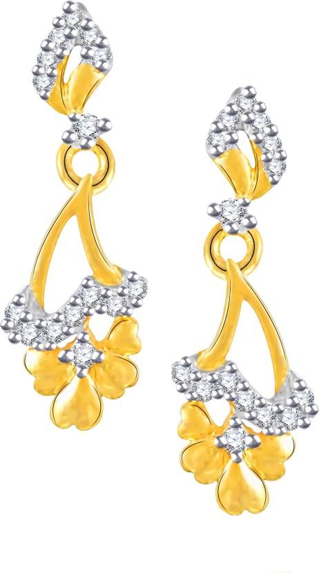 Vidhi Jewels Designer Cubic Zirconia Alloy, Brass Drop Earring