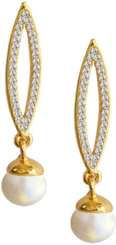 Being Women Kareena Kapoor Inspired Stone studded Pearl Drop Design Alloy Drop Earring