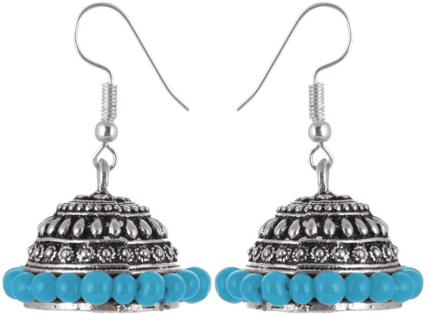 Subharpit Bollywood Stylish Charm Sky Alloy Jhumki Earring