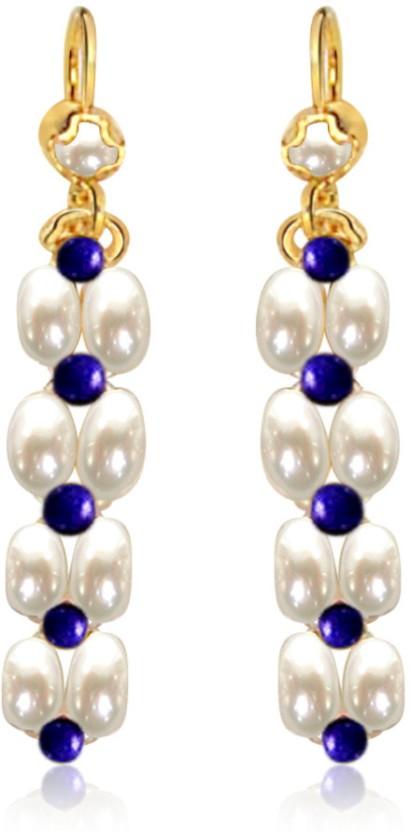 Surat Diamond Blue Lapis Bliss Pearl, Lapis Lazuli Metal Clip-on Earring