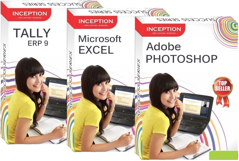 Inception Learn Tally Erp 9+Microsoft Excel+Adobe Photoshop (Inception Success Series - 3 Cds)