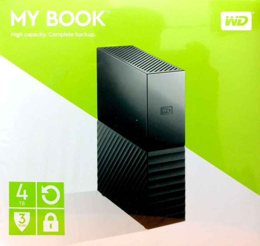 WD My Passport 4 TB Wired External Hard Disk Drive