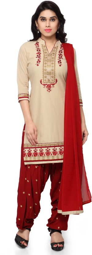 Rangoon Cotton Embroidered Dress/Top Material