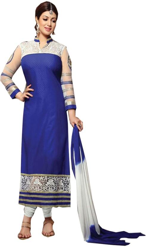 Khantil Cotton Embroidered Semi-stitched Salwar Suit Dupatta Material