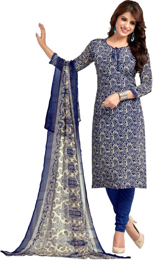 Manvaa Crepe Printed Salwar Suit Dupatta Material