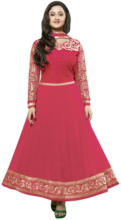 Reya Georgette Embroidered Dress/Top Material