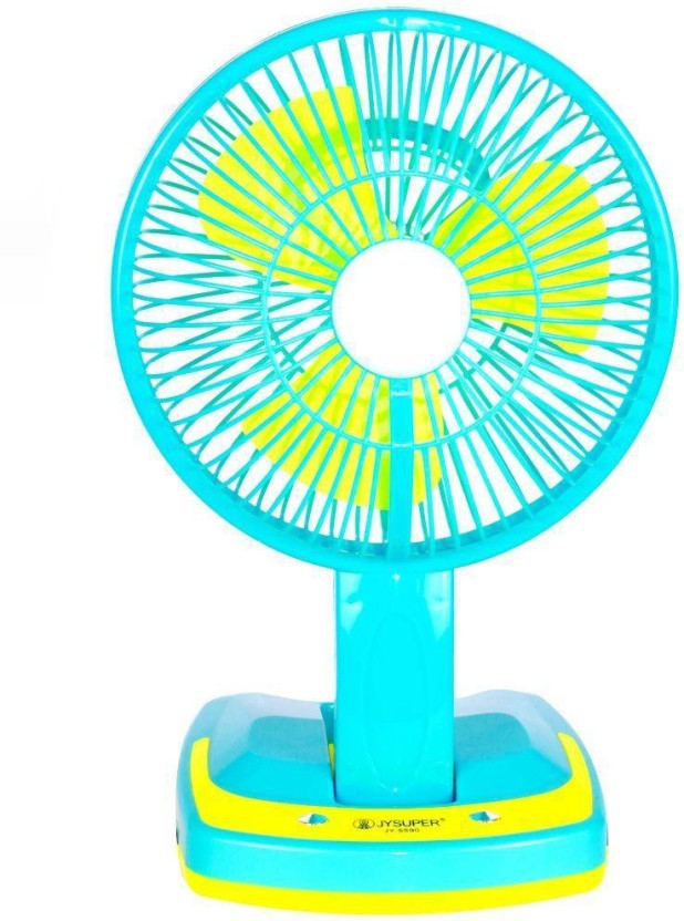 Jy Super Rechargeable Ac-Dc 2 Speed And 21 SMD Light 3 Blade Table Fan