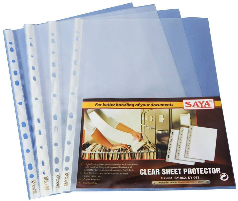 Saya Office Series Polypropylene Clear Holders