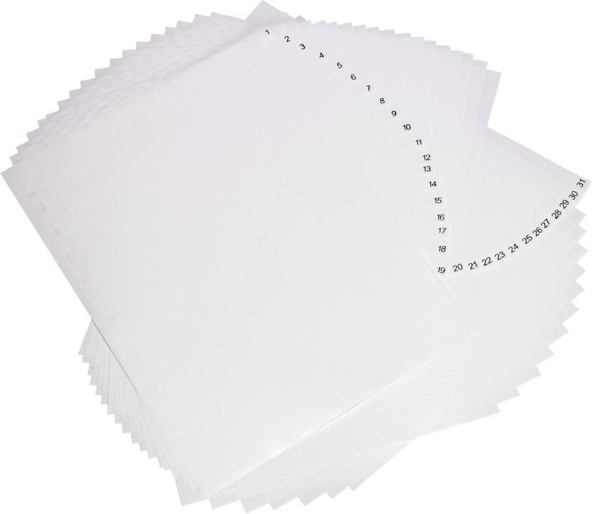 Trio ID31 PP Index Dividers 31 Daily A4