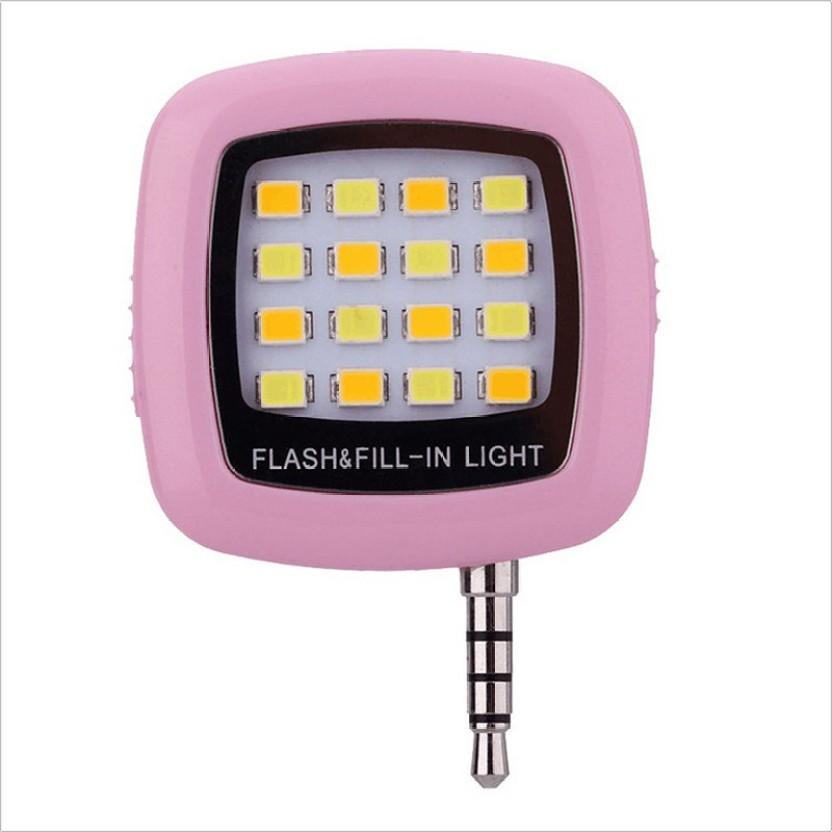 KOJO Portable Mini 16 LED Night Using Selfie Flash Fill-in Light Pocket Spotlight for all Smartphones & Apple phones Flash