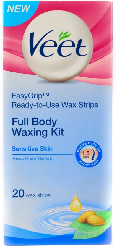 Veet Full Body Waxing Kit Sensitive (Pack of 2) Wax Strips
