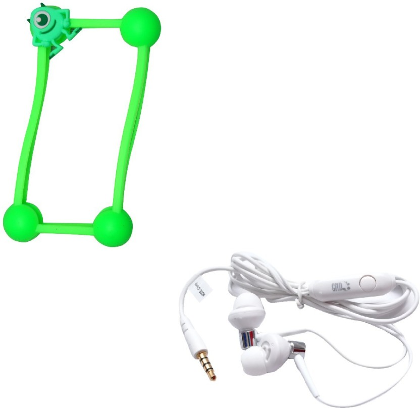 GND HF-BS-W + CT-B7 Bumper Case for All Mobile Phones and Headphone