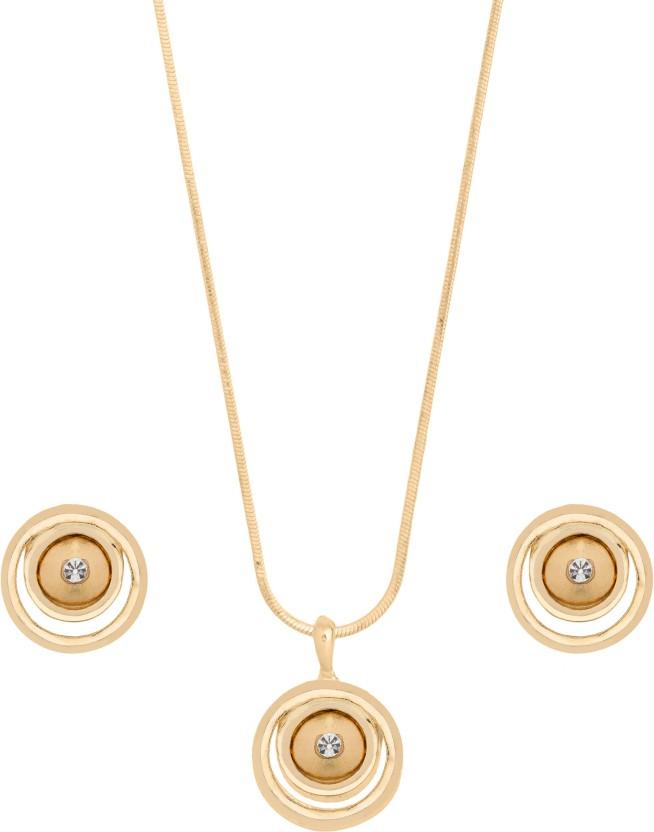 Shining Jewel Brass Jewel Set