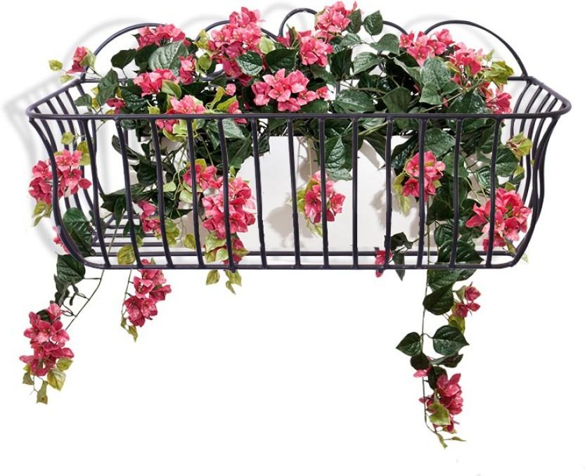 Home Sparkle Wall Hanging Flower Holder Steel Vase