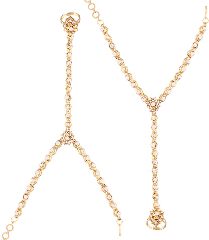 I Jewels Alloy 22K Yellow Gold Hand Thong