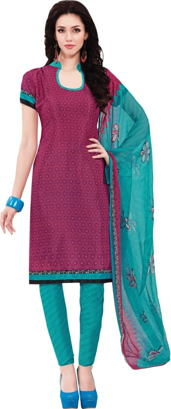 Kalinda Art Silk Printed Salwar Suit Dupatta Material