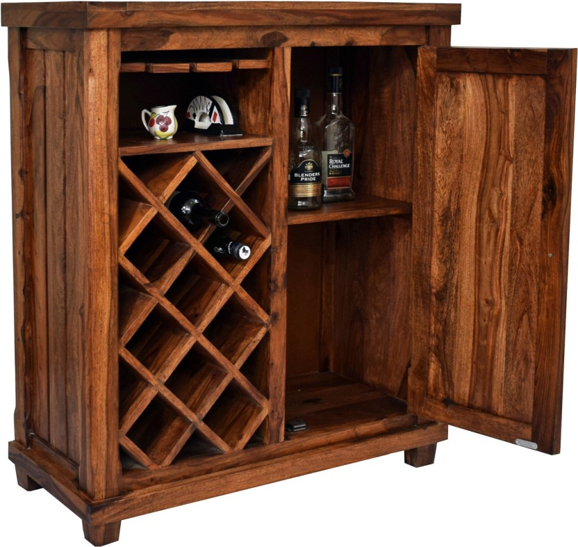 TimberTaste COSMOS Solid Wood Bar Cabinet