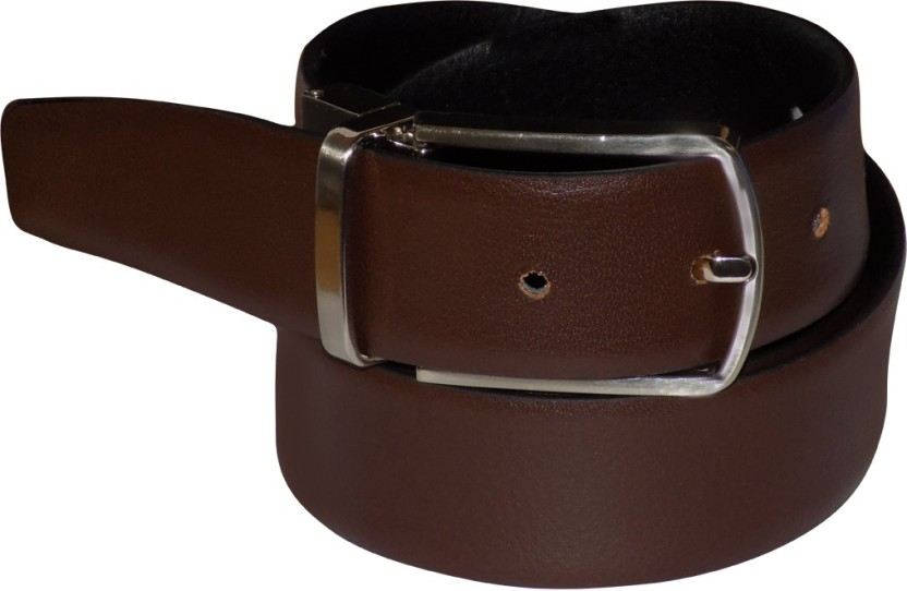 Style 98 Men Casual Brown, Black Genuine Leather Reversible Belt